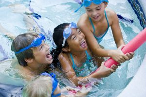Swimming lessons to children's